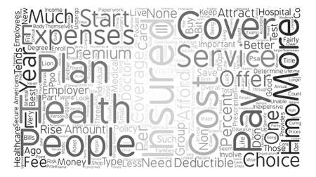 Health Insurance Is Some Better Than None Word Cloud Concept Text Background