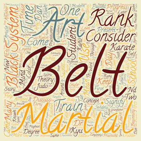 Martial Art Belt Ranks Where Did They Come From And What Do They Mean text background wordcloud concept