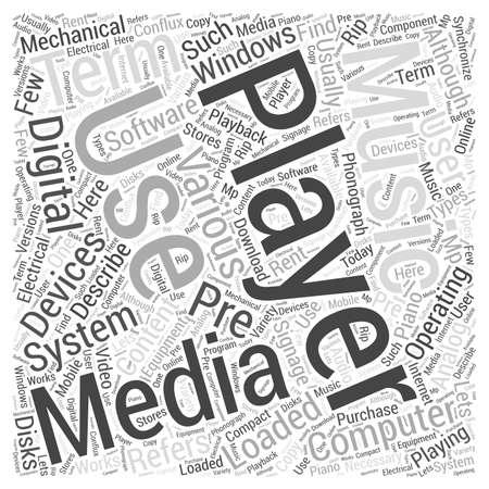 describe: Media Player Word Cloud Concept