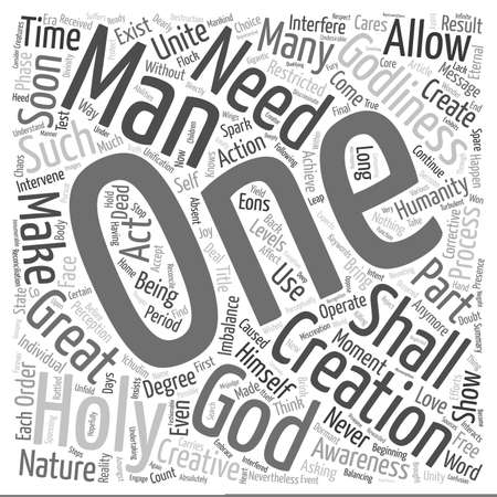 Message from The Holy One text background wordcloud concept