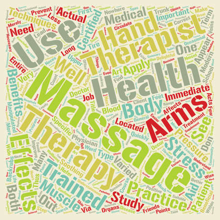 Massage Therapist text background wordcloud concept Illustration