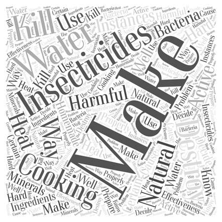 Making Your Own Natural Insecticides Word Cloud Concept Illustration
