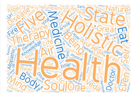 Holistic Health text background word cloud concept