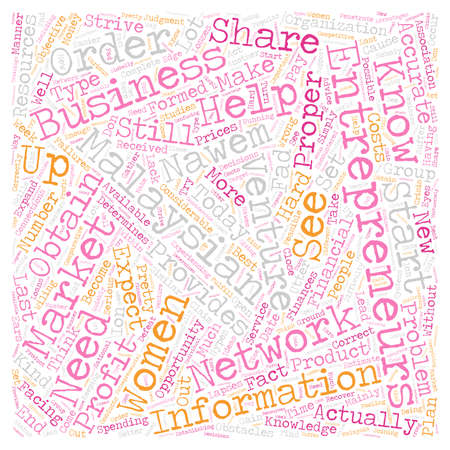 Malaysian women entrepreneurs text background wordcloud concept