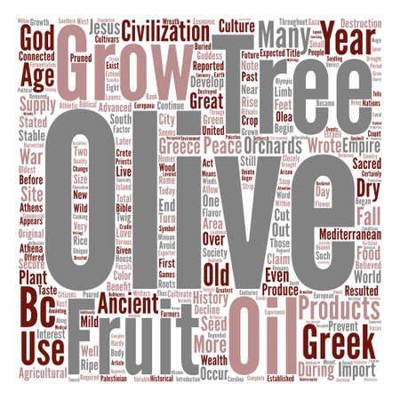 closely: History Of Olive Trees Word Cloud Concept Text Background