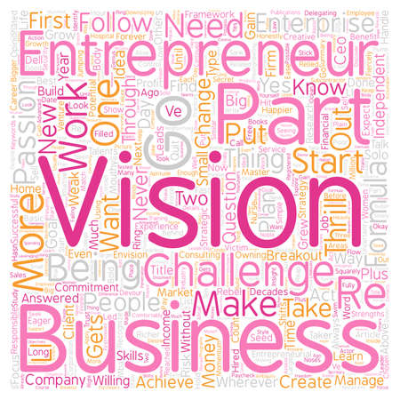 Master This Part Breakout Formula to Start Your Own Business text background wordcloud concept Illustration