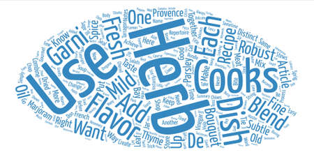 distinctive flavor: Herb Blends and How To Use Them text background wordcloud concept