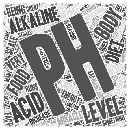 Measuring your pH for the pH miracle diet Word Cloud Concept