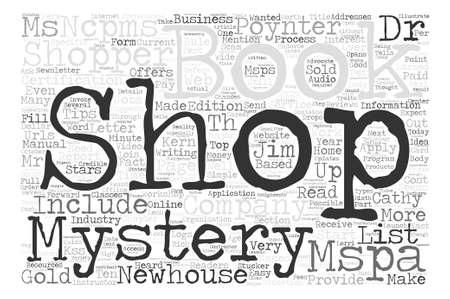 Avete mai desiderato il concetto della nuvola di parola del fondo del testo del negozio di mistero