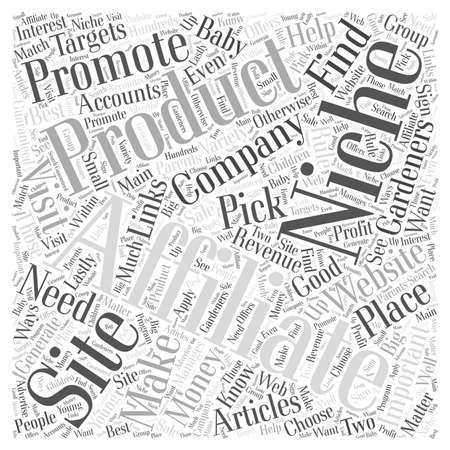 affiliates: Making Money with Articles Where to Find Affiliates For Your Niche Web Word Cloud.