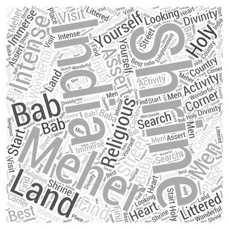 Meher Bab Word Cloud Concept Illusztráció