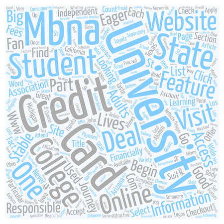 Mbna Credit Cards For Students text background wordcloud concept