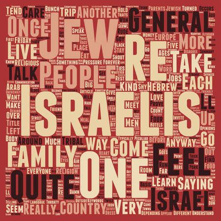 israelis: Meet the Israelis text background wordcloud concept