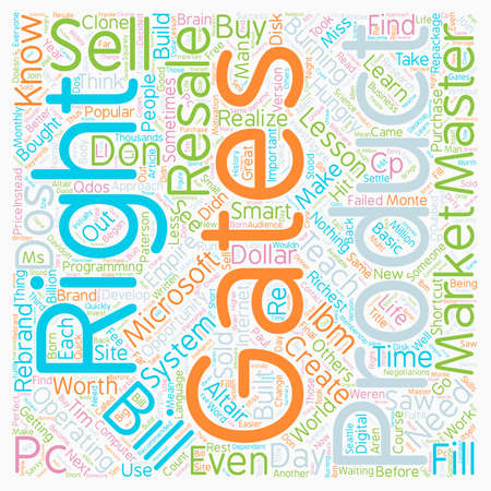Master Resale Rights Lessons Bill Gates Could Teach You text background wordcloud concept