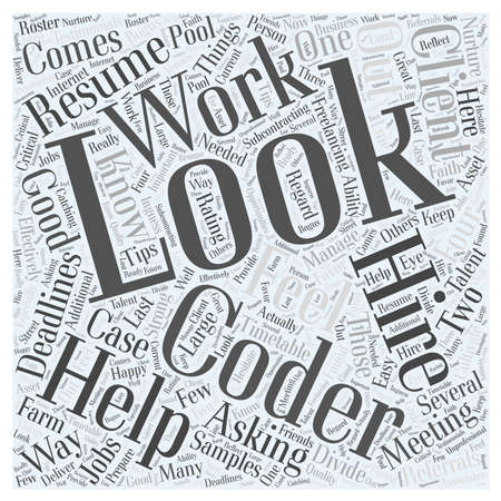 freelancing: Meeting your freelancing deadlines Word Cloud Concept Illustration