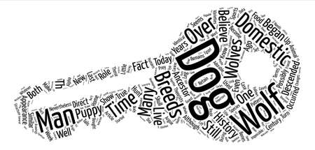 History of Dogs Or Maybe Wolves Word Cloud Concept Text Background Illustration