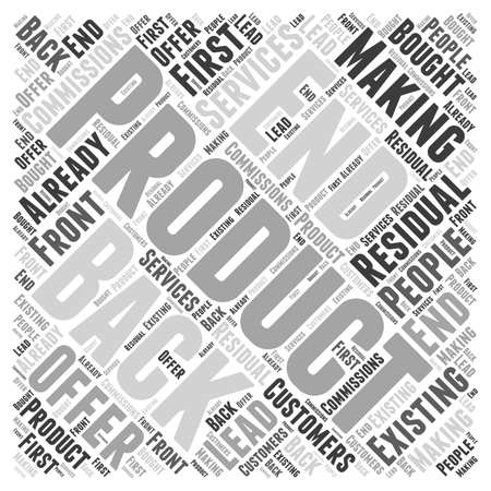 commissions: Making Back End  Residual Commissions Word Cloud Concept Illustration