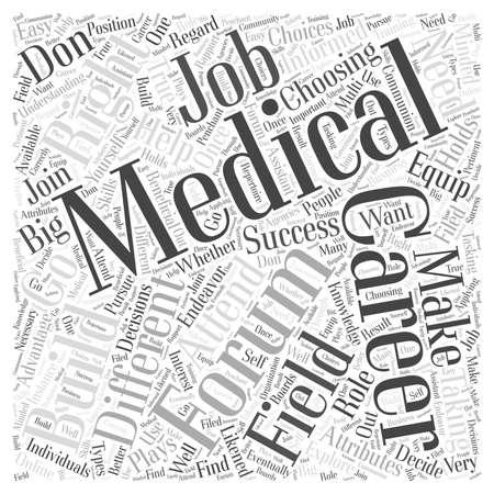 medical career: Medical career forum Word Cloud Concept