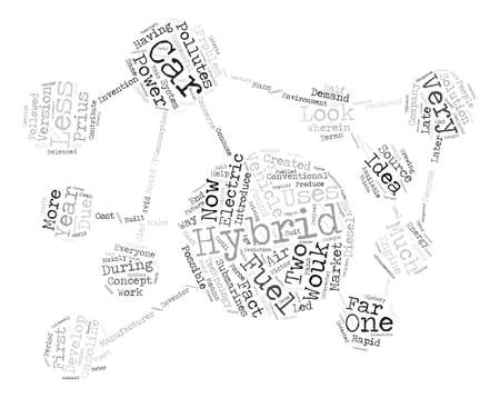 finally: History of hybrid car text background word cloud concept