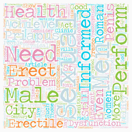 supposed: Male Sexual Health Past and Present text background wordcloud concept
