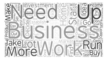 ultimately: Home Business Ideas Opportunities Word Cloud Concept Text Background Illustration