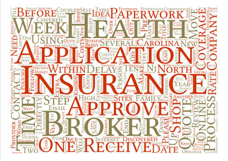 potentially: Health Insurance And Insurance Brokers text background word cloud concept