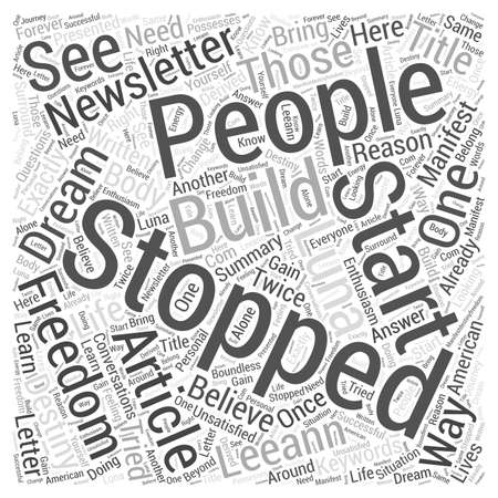 manifest: Manifest Destiny Freedom Newsletter Word Cloud Concept
