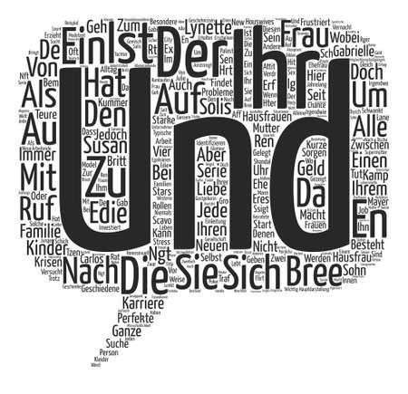 Hausfrauen im Fernseher text background word cloud concept