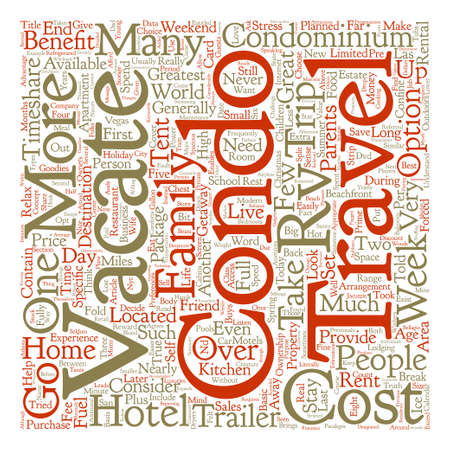 confine: Home Away From Home Benefits Of Condos Over Hotels And Rvs text background word. Illustration