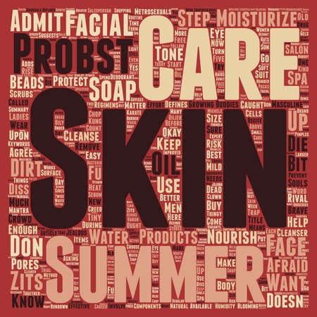 defines: Masculine Skin Care For The Summer text background wordcloud concept
