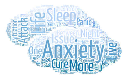 jolt: Has Your Anxiety Turned You Into A Sleepwalker text background word cloud concept Illustration