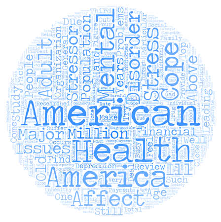 researches: Mental health america text background wordcloud concept