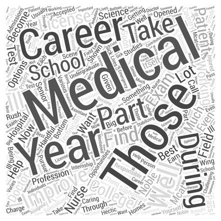 medical career: Medical Career Word Cloud Concept