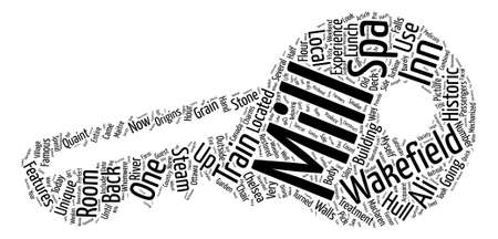 Hello From Ottawa The Wakefield Mill Inn Spa text background word cloud concept