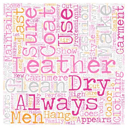 Mens Leather Coats text background wordcloud concept Illustration