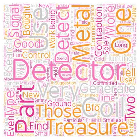 Metal Detector Parts text background wordcloud concept Illusztráció