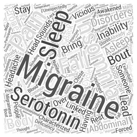 Migraines and Insomnia Word Cloud Concept