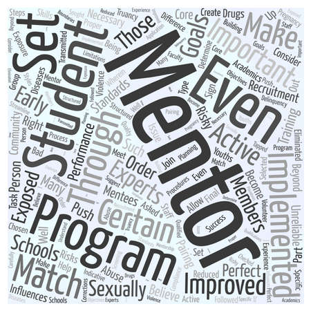 Mentoring in schools Word Cloud Concept