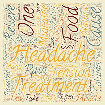 potentially: Migraine Headaches Is Relief Without Drugs Possible text background wordcloud concept