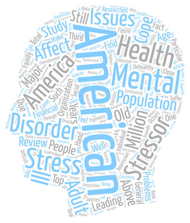 Mental health america 1 text background wordcloud concept