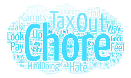 Hate That Chore Change Your Mind text background word cloud concept