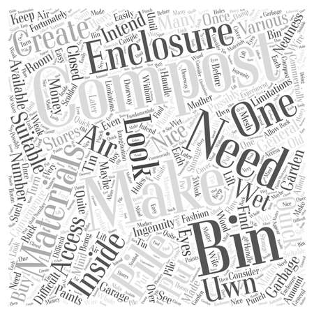 Making Your Uwn Compost Bin Word Cloud Concept Illusztráció