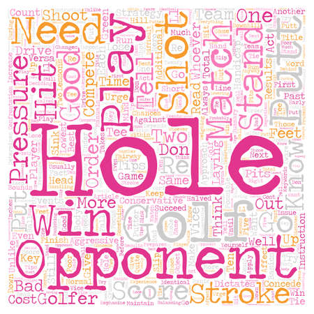 Match Play Strategies text background wordcloud concept