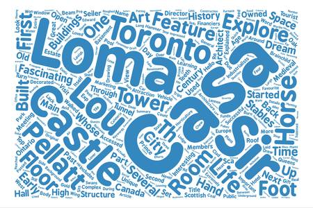Hello From Toronto A First Hand Look At Casa Loma Part I Word Cloud Concept Text.