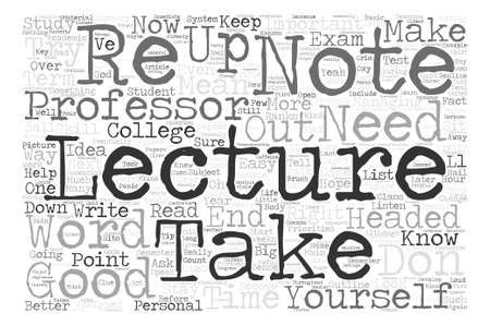 priorities: How To Take Lecture Notes Word Cloud Concept Text Background