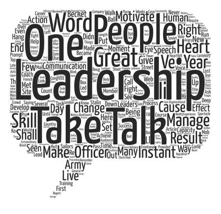 Instant Leadership Talks Word Cloud Concept Text Background