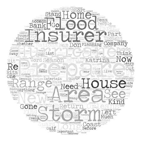 Temporada de huracanes ¿Cómo puede prepararse para él? Palabra Nube Concepto de fondo de texto