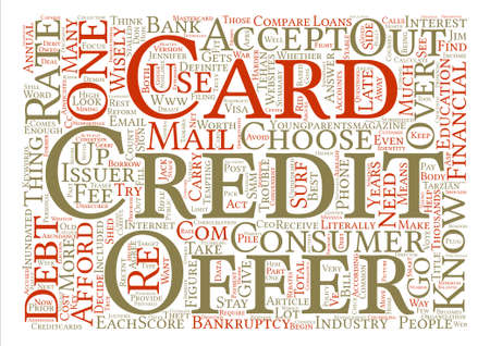 inundated: How to choose a Credit Card text background wordcloud concept Illustration
