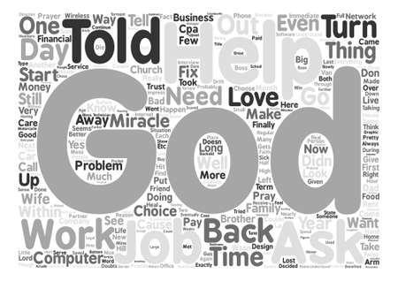 I Dare You to Challenge God for a Miracle in Your Life text background word cloud concept