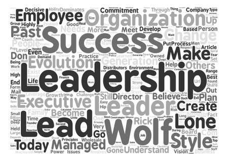 Lone Wolf Lead Wolf text background word cloud concept